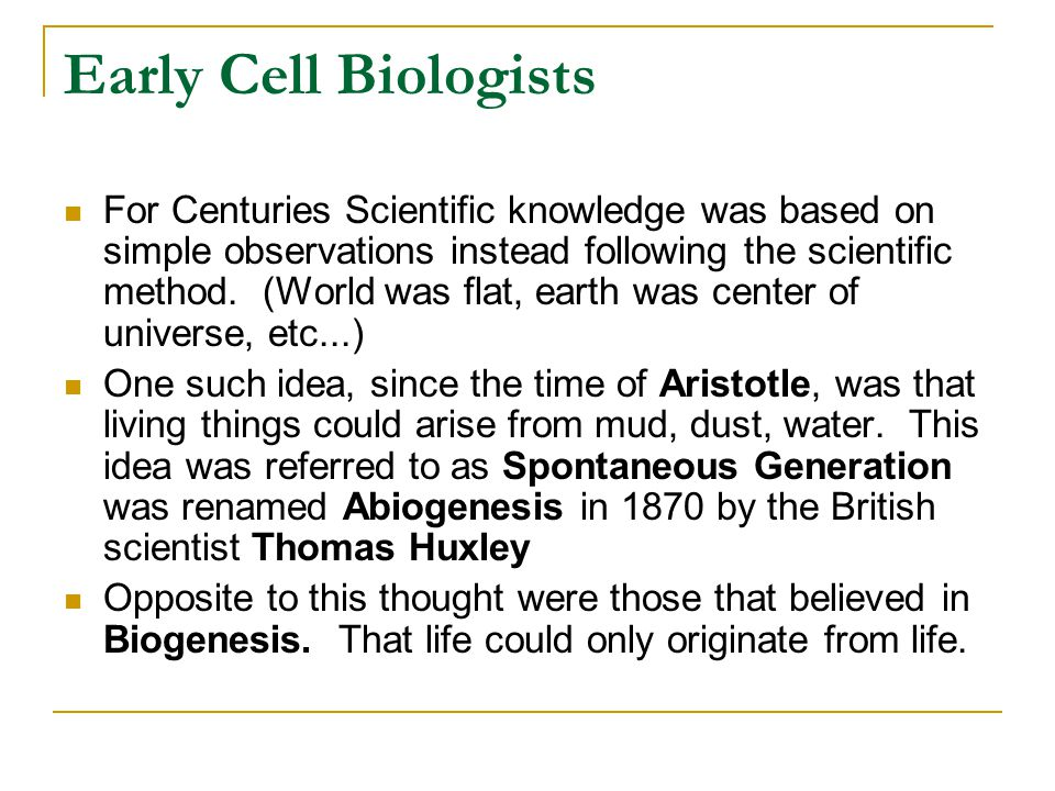 Early Cell Biologists