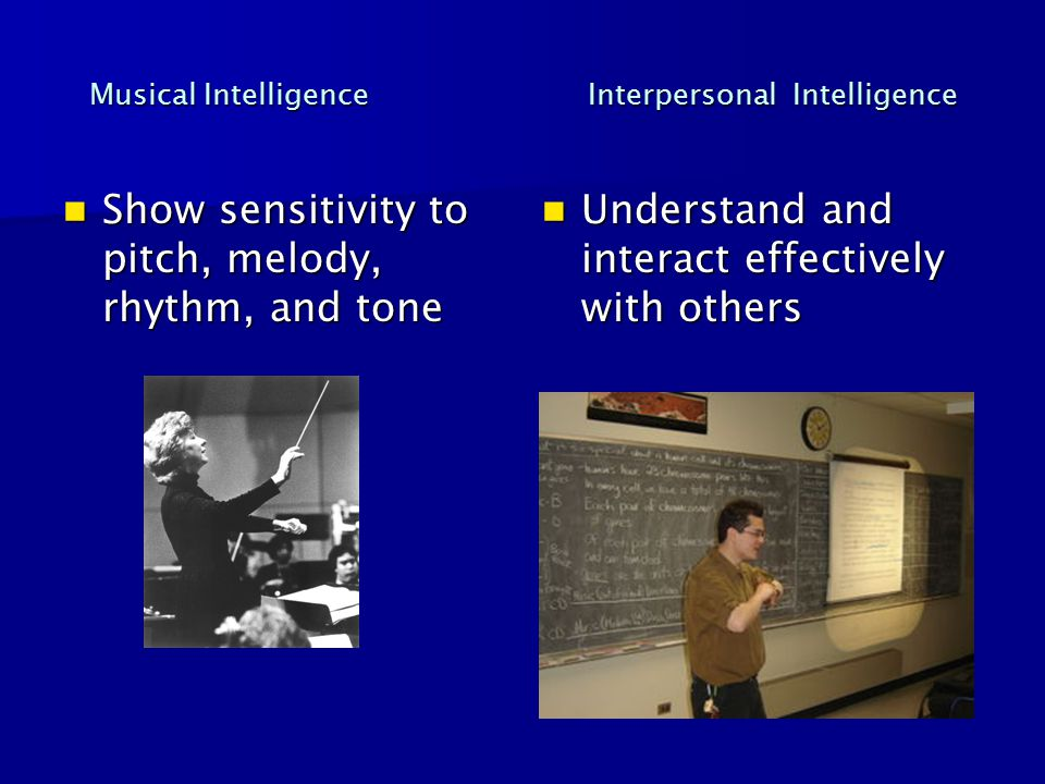 Musical Intelligence Interpersonal Intelligence