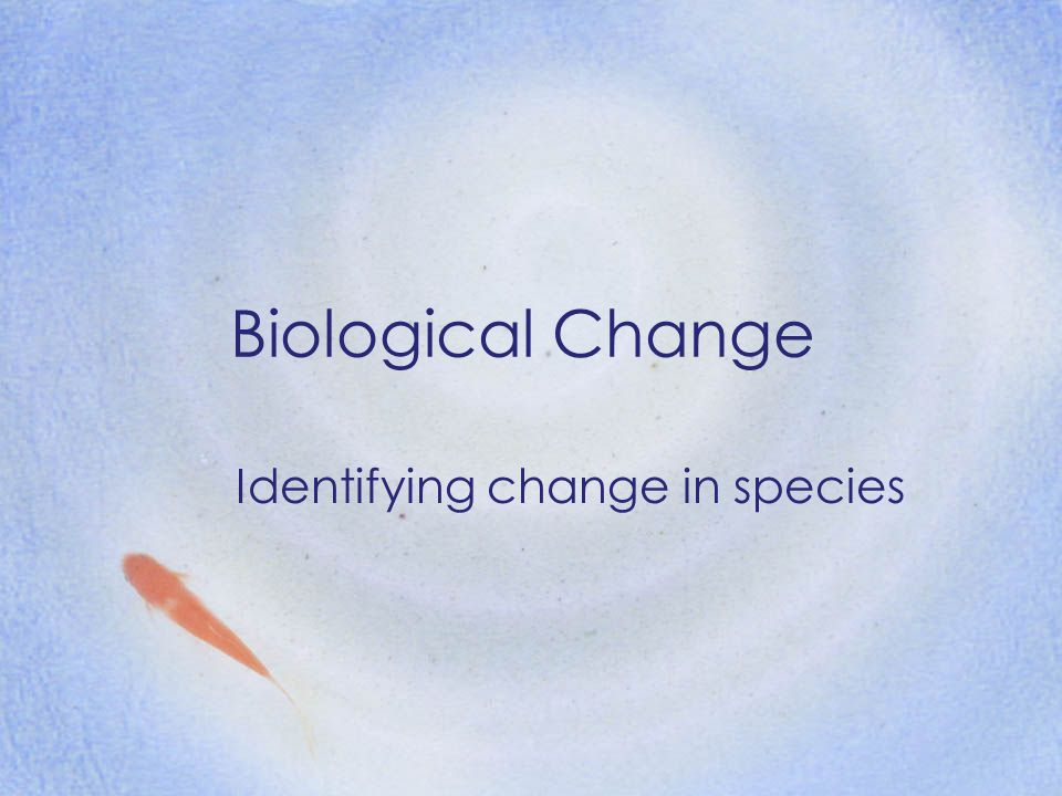 Identifying change in species