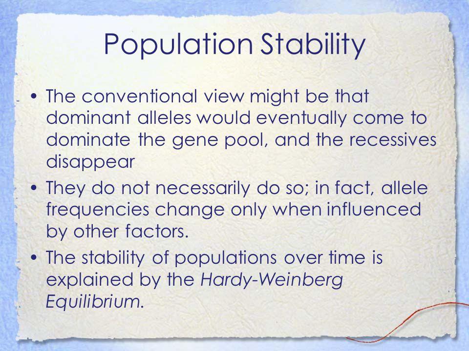 Population Stability