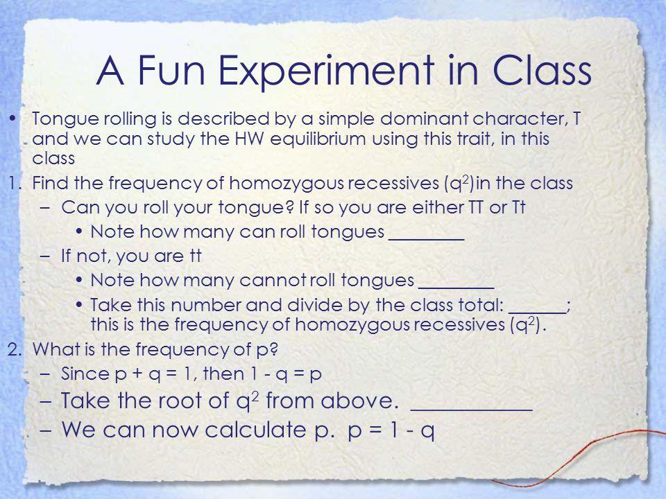 A Fun Experiment in Class
