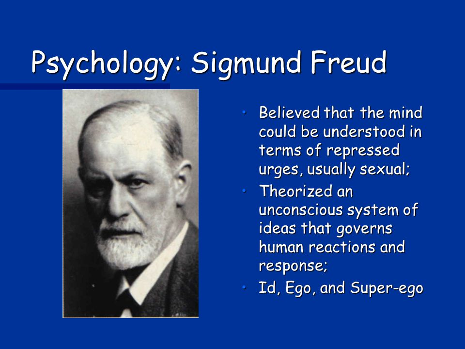Psychology: Sigmund Freud