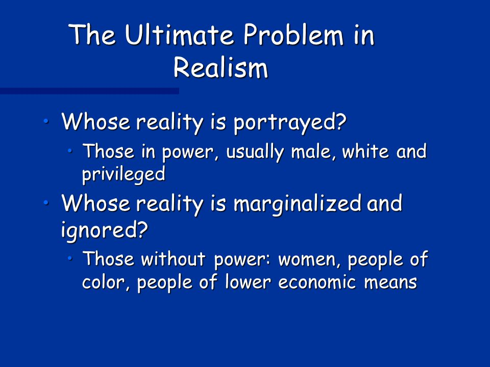 The Ultimate Problem in Realism