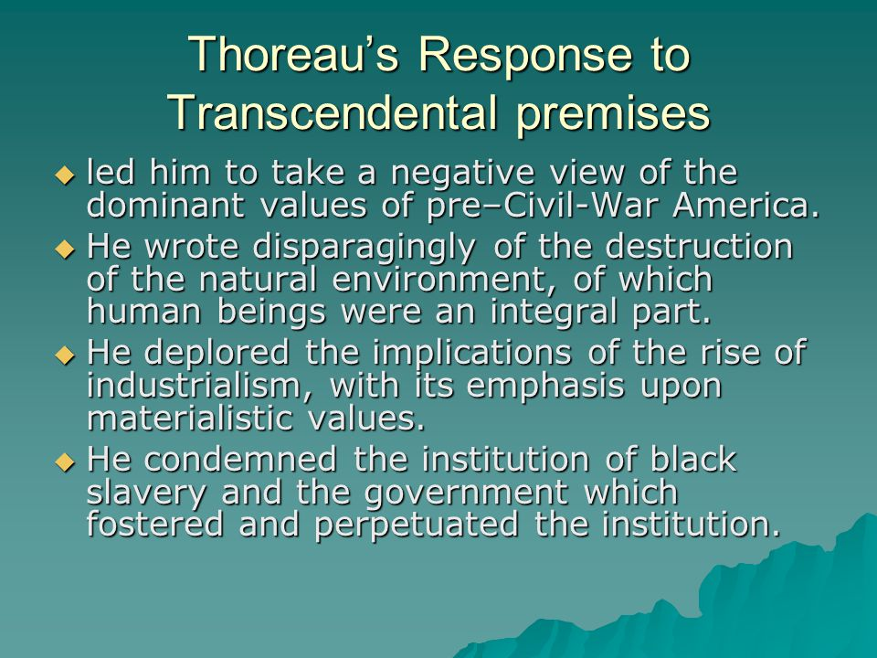 an introduction to the literature by thoreau By writers and intellectuals who now wanted to communicate a more realistic  approach to literature  the enlightenment - an introduction.