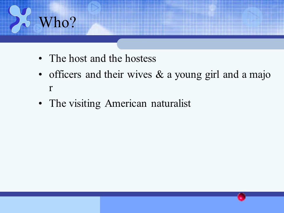 Who The host and the hostess