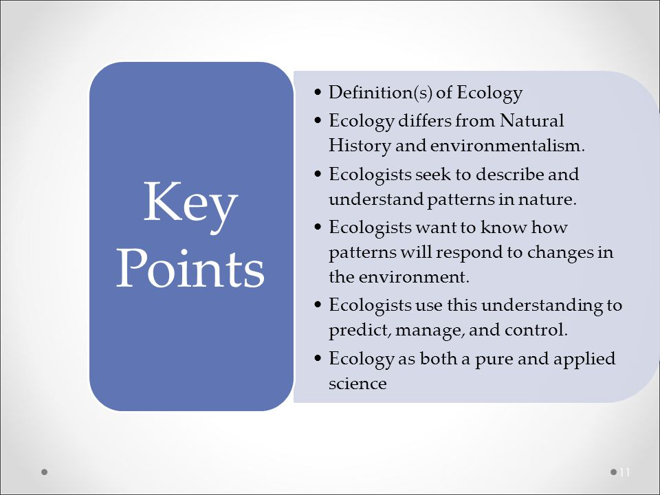 Definition(s) of Ecology