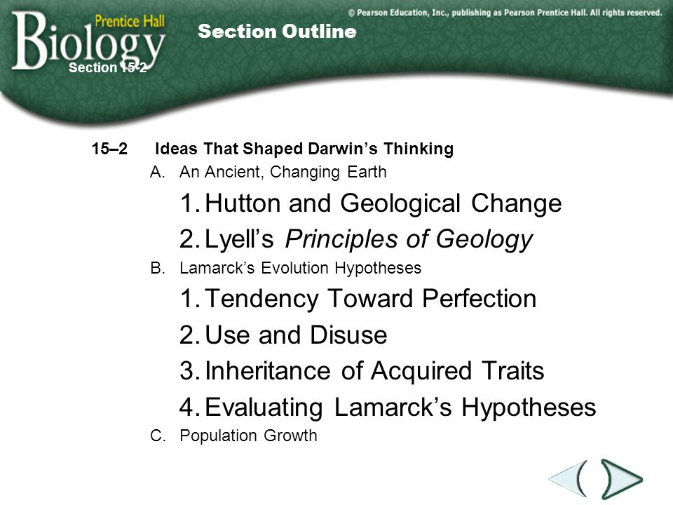 1. Hutton and Geological Change 2. Lyell's Principles of Geology