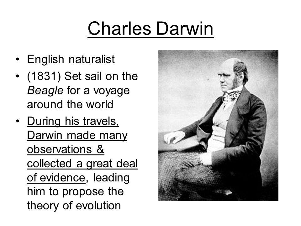 Charles Darwin English naturalist