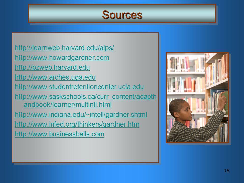 Sources http://learnweb.harvard.edu/alps/ http://www.howardgardner.com