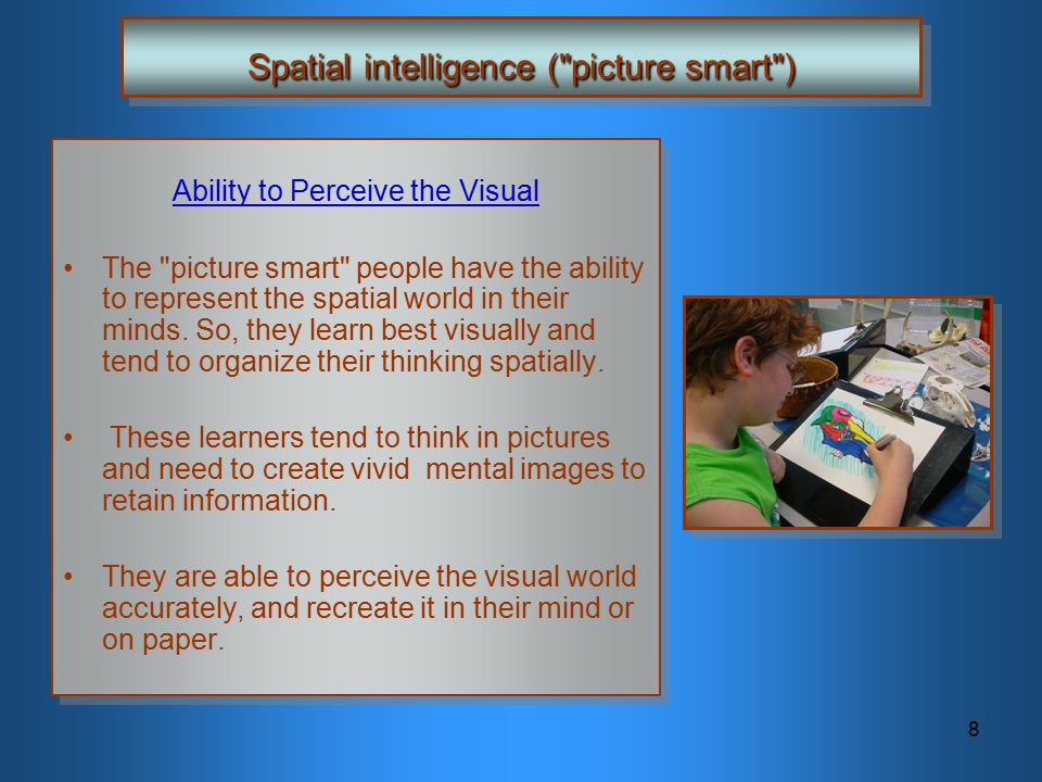Spatial intelligence ( picture smart )