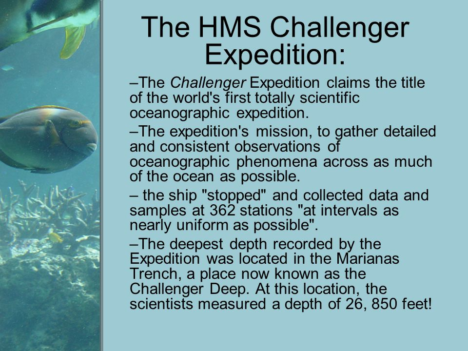 The HMS Challenger Expedition:
