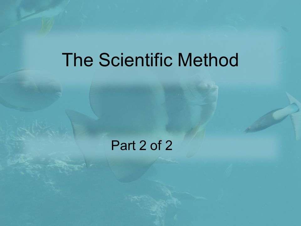 The Scientific Method Part 2 of 2
