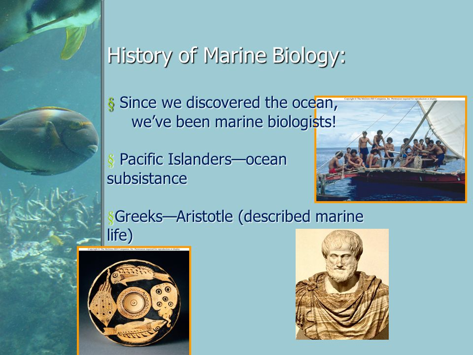 History of Marine Biology: