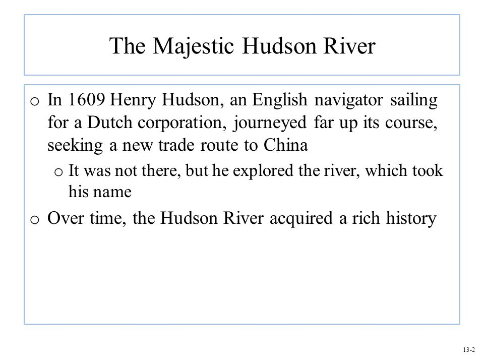 The Majestic Hudson River