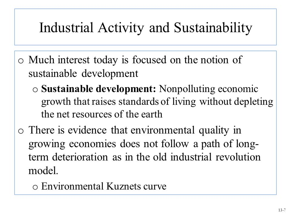 Industrial Activity and Sustainability