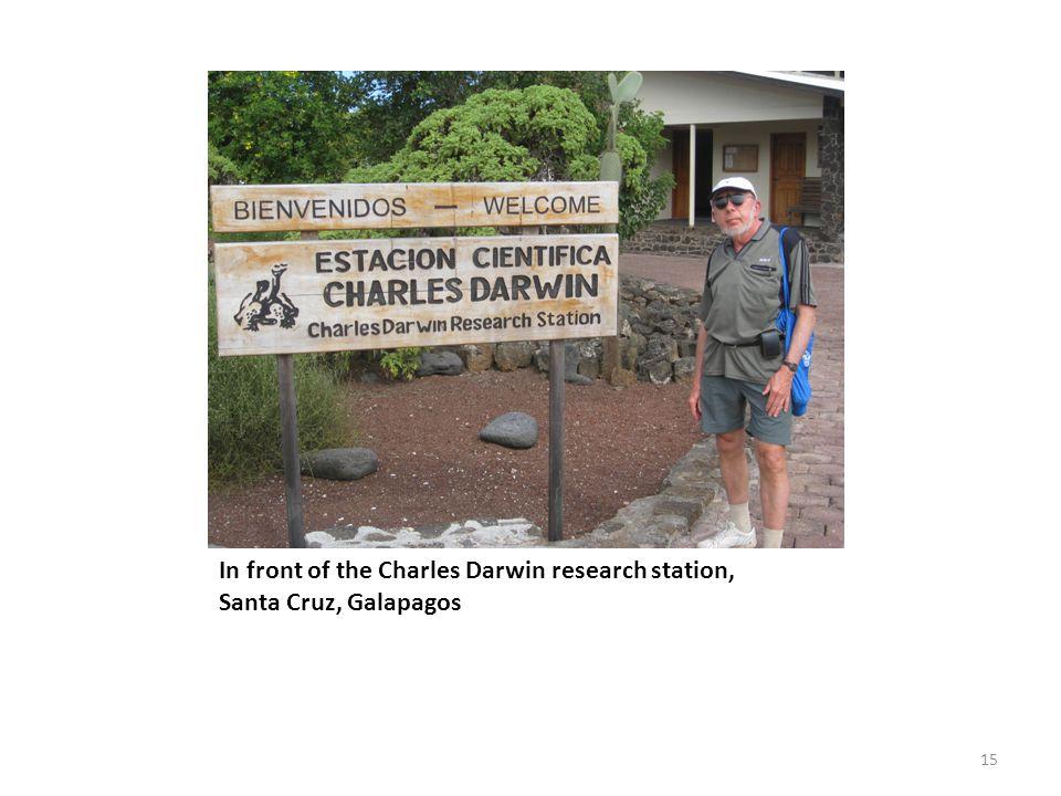 In front of the Charles Darwin research station, Santa Cruz, Galapagos