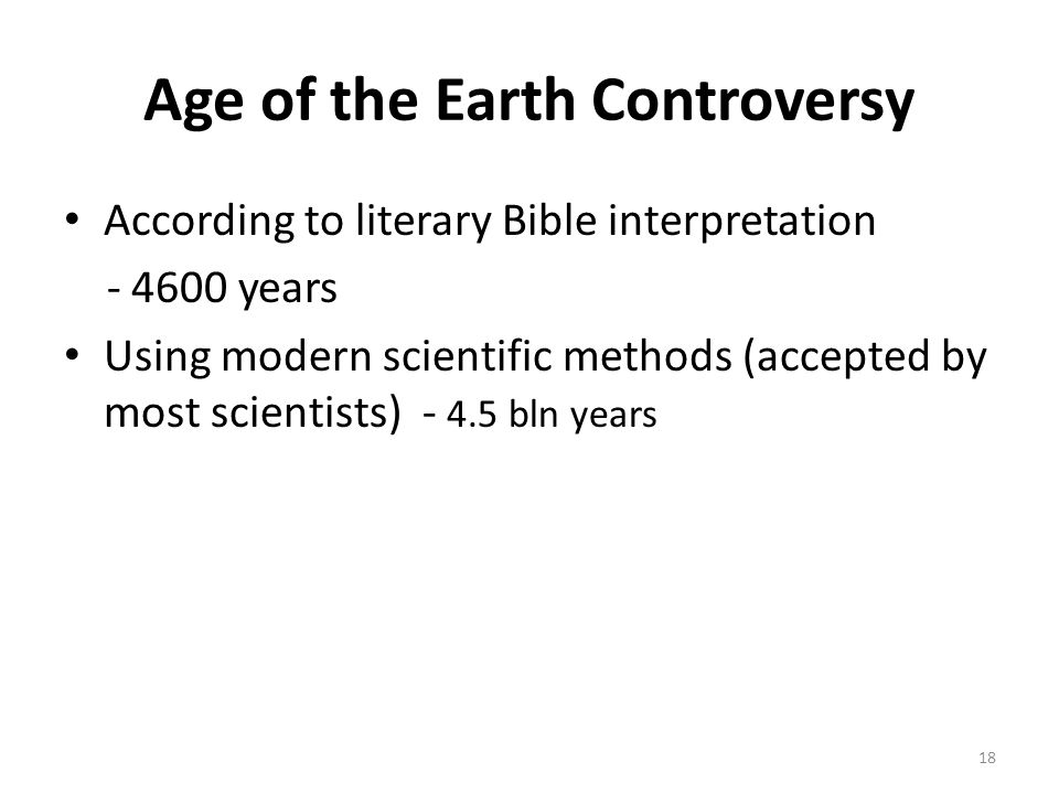 Age of the Earth Controversy