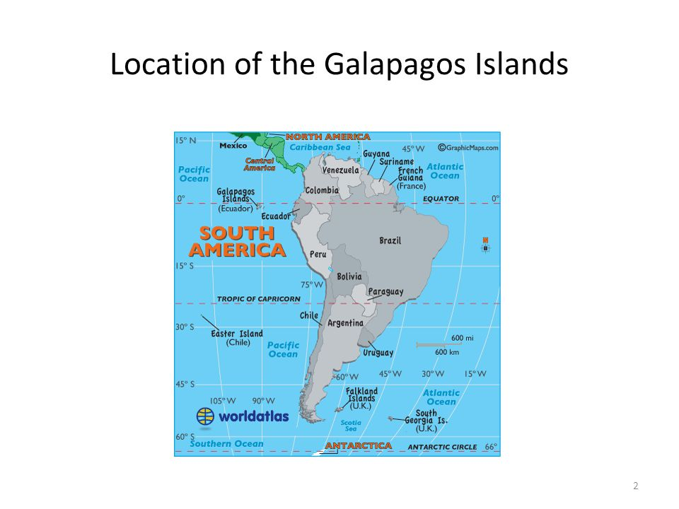 Location of the Galapagos Islands