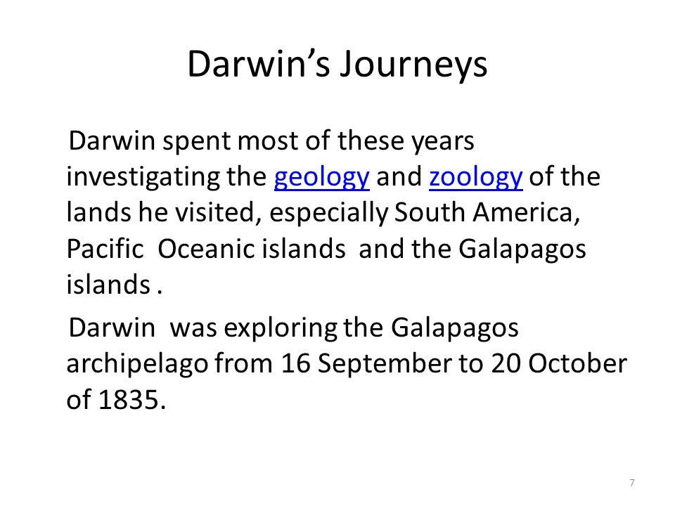 Darwin's Journeys