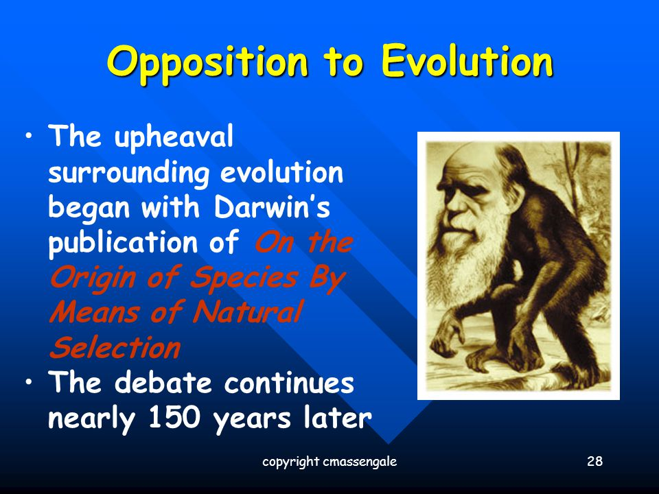 Opposition to Evolution