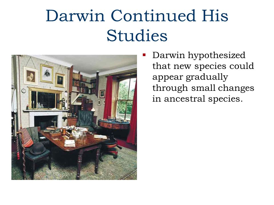 Darwin Continued His Studies