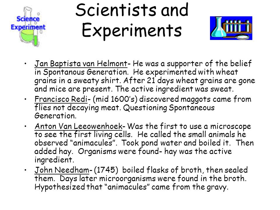 Scientists and Experiments