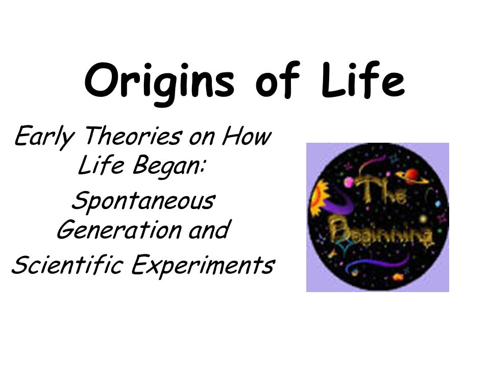 Origins of Life Early Theories on How Life Began: