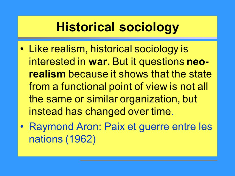 Historical sociology