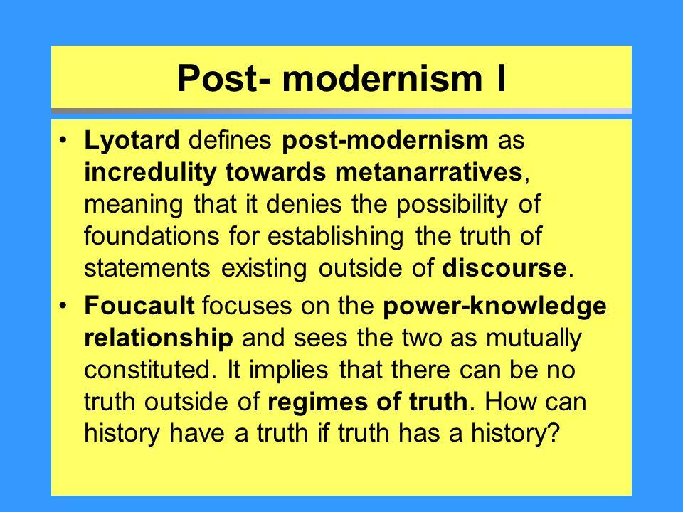 Post- modernism I