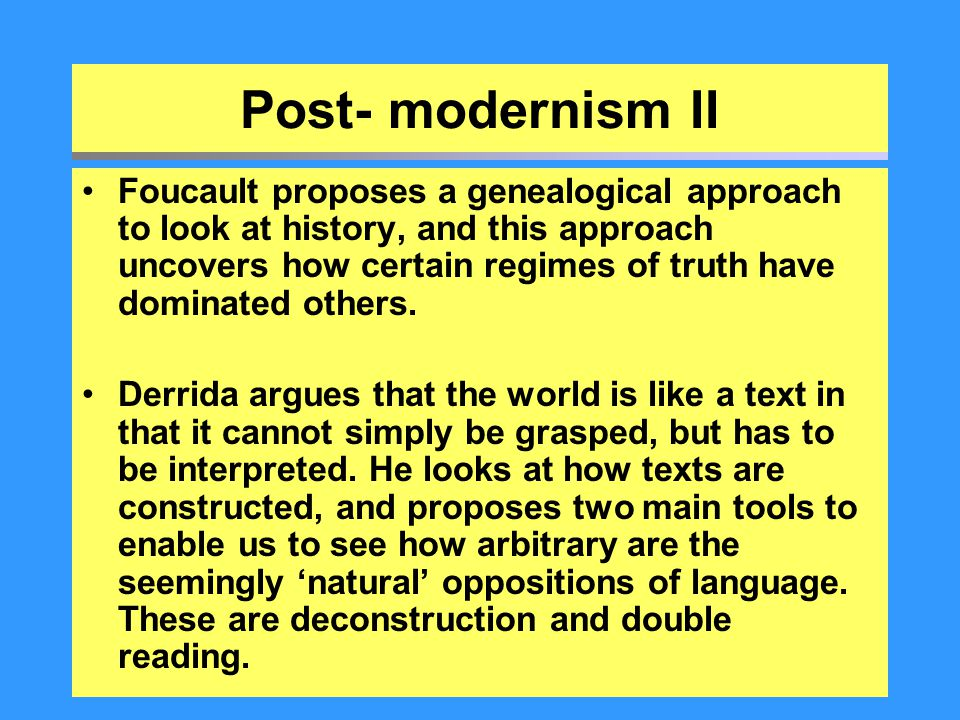 Post- modernism II