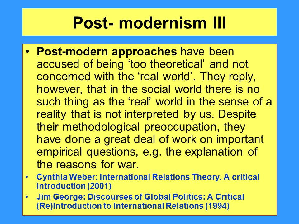 modernist symbolic interpretive postmodernism technology Comparing modernism symbolic interpretivism and postmodernism perspectives of from bus 500 at deep springs.