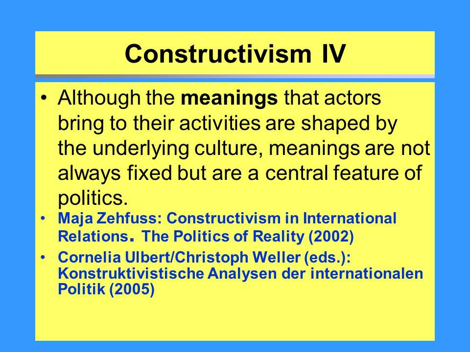 Constructivism IV