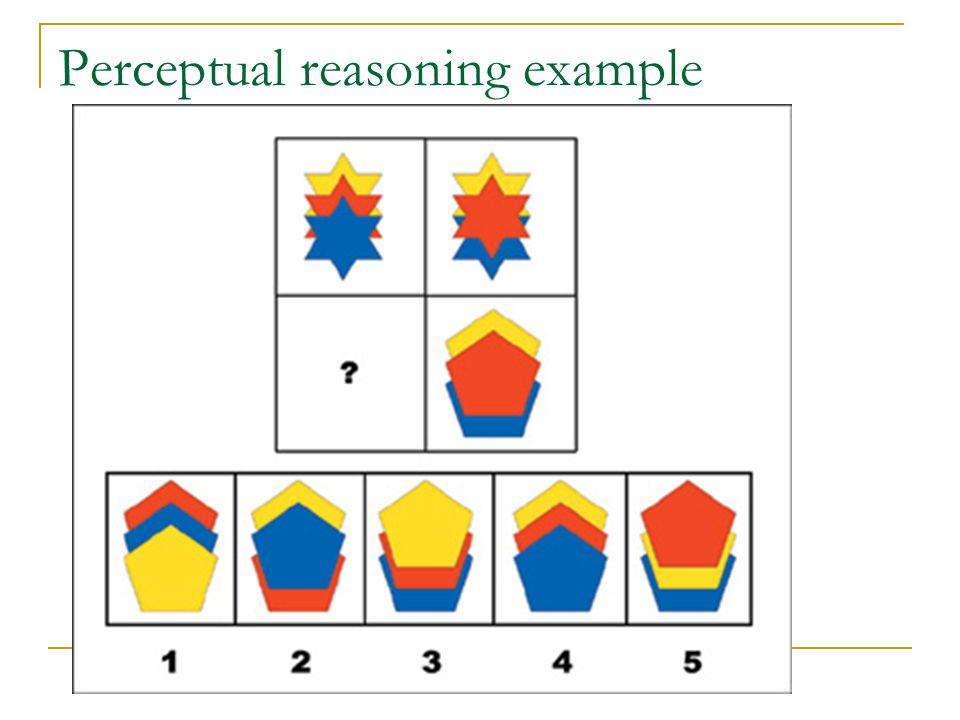 Perceptual reasoning example