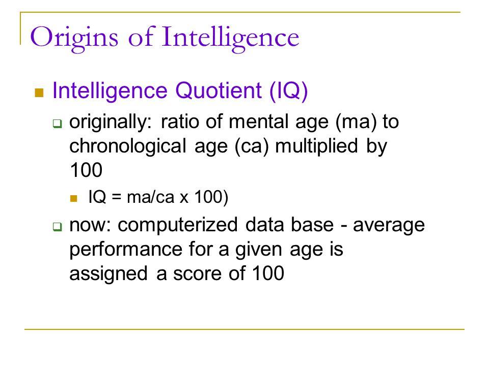 Origins of Intelligence