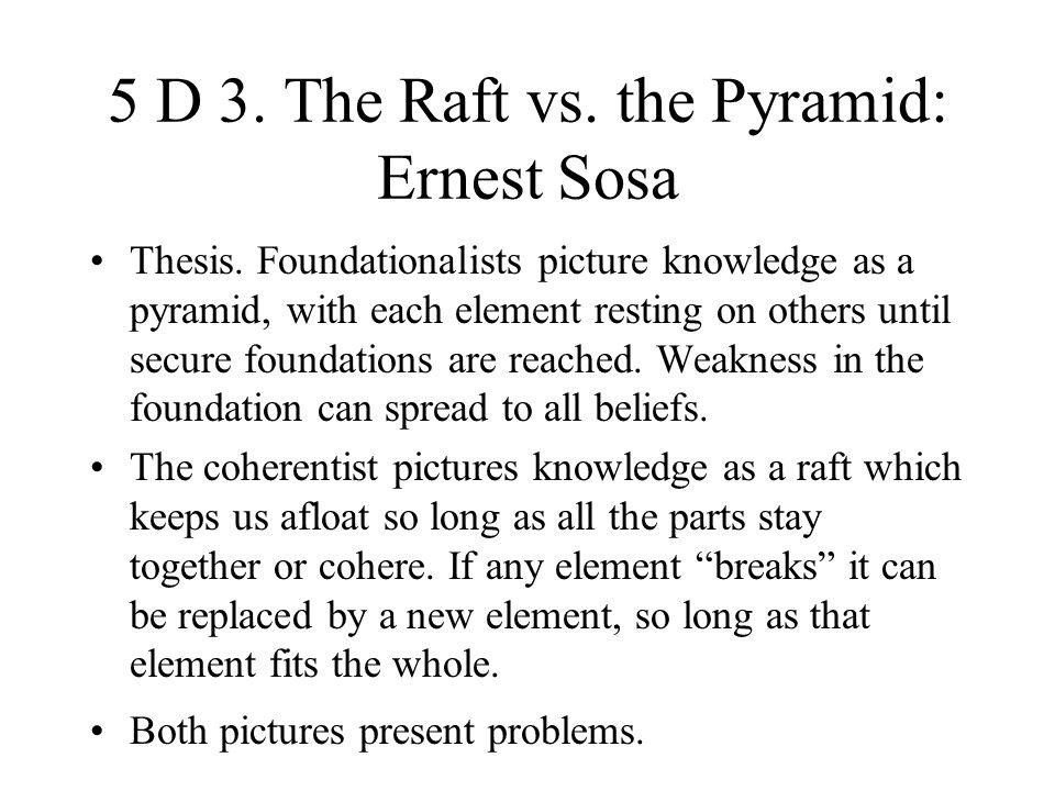 5 D 3. The Raft vs. the Pyramid: Ernest Sosa