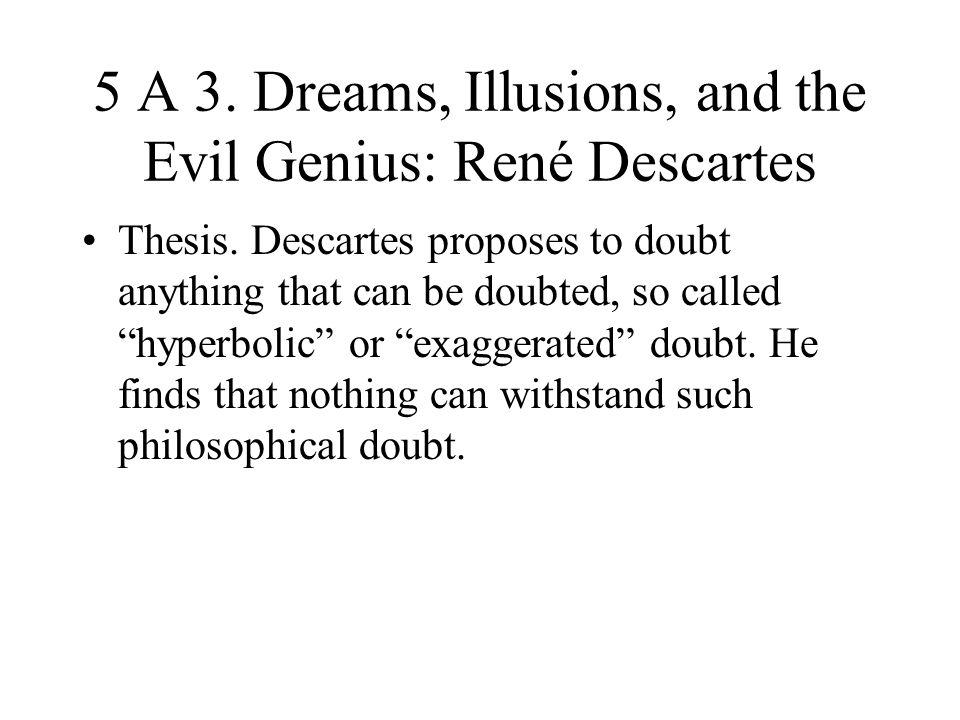 5 A 3. Dreams, Illusions, and the Evil Genius: René Descartes