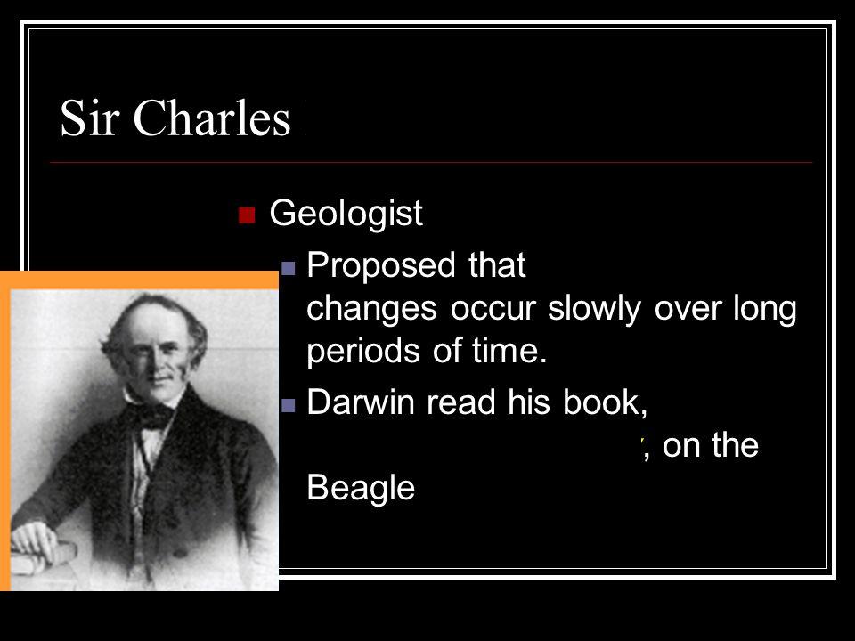 Sir Charles Lyell Geologist