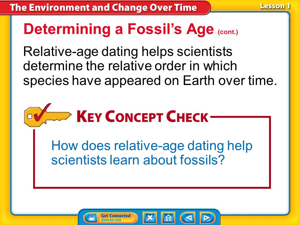 Determining a Fossil's Age (cont.)