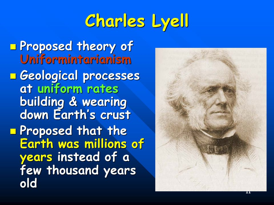 Charles Lyell Proposed theory of Uniformintarianism