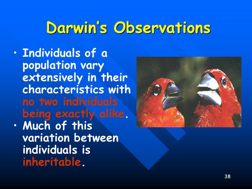 Darwin's Observations
