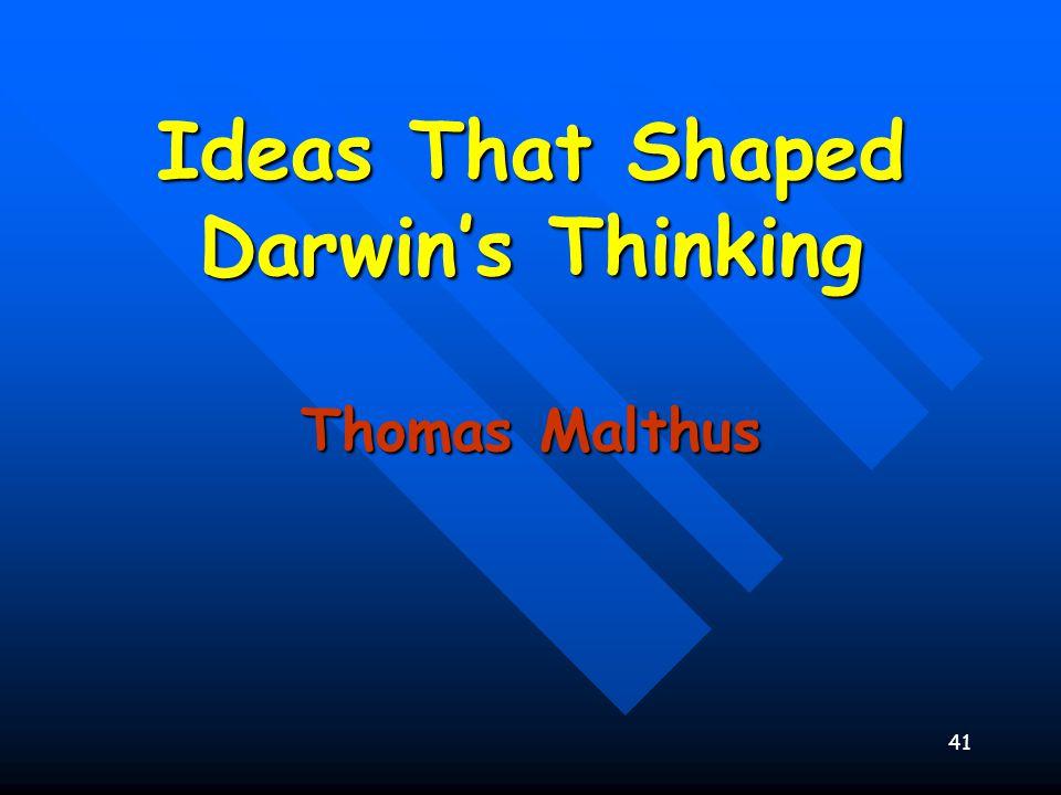 Ideas That Shaped Darwin's Thinking