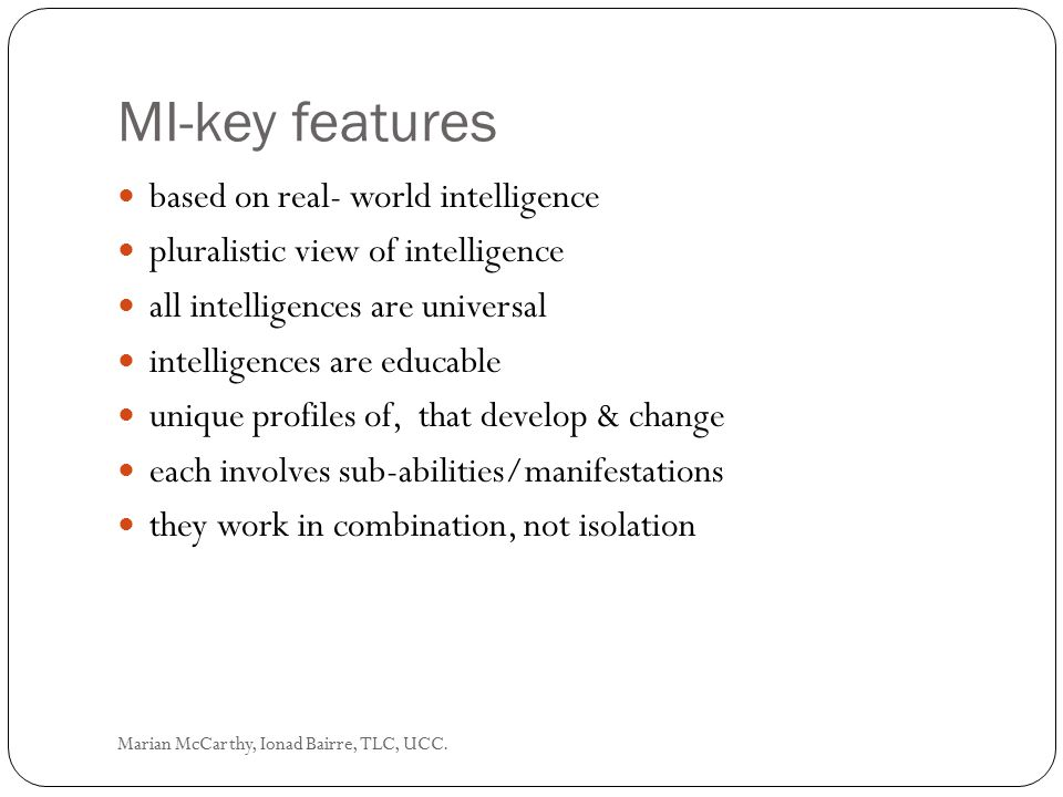 MI-key features based on real- world intelligence