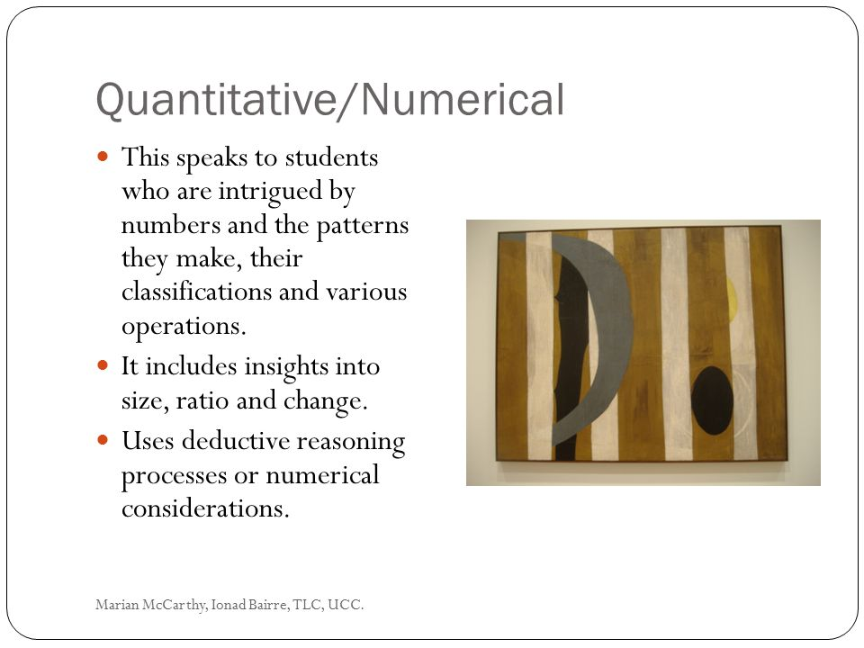 Quantitative/Numerical