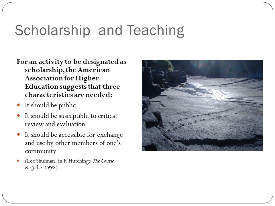 Scholarship and Teaching