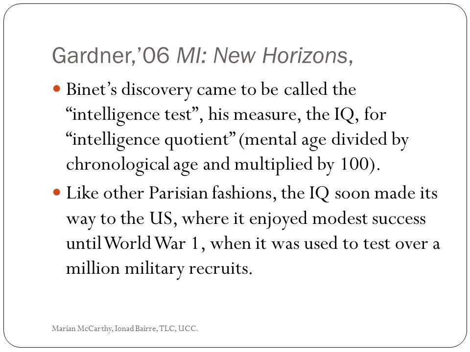 Gardner,'06 MI: New Horizons,