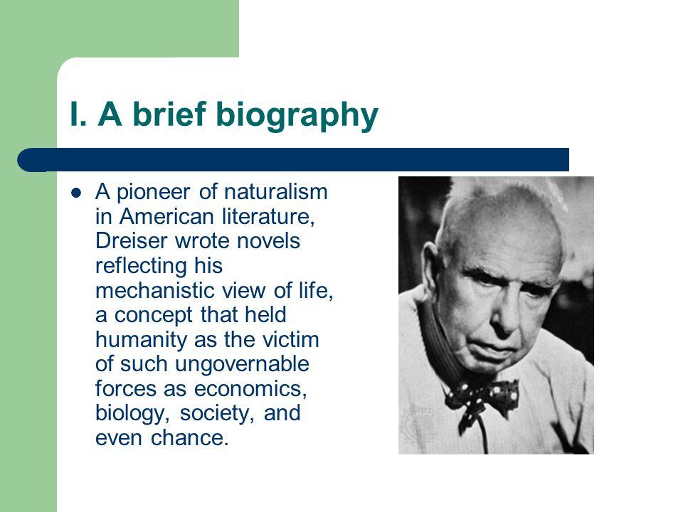 I. A brief biography
