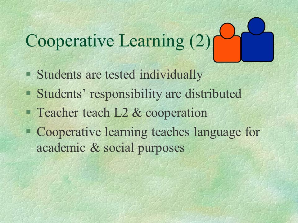 Cooperative Learning (2)