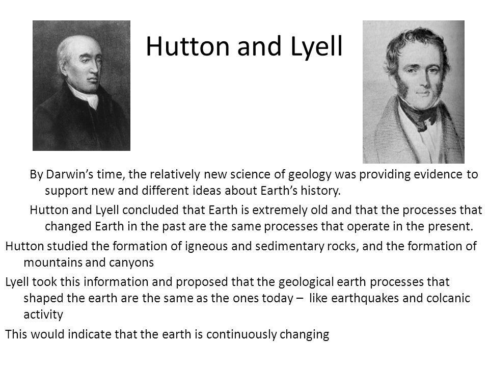 Hutton and Lyell