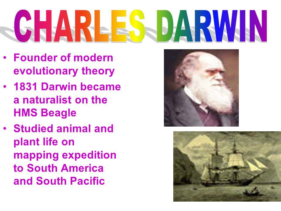 CHARLES DARWIN Founder of modern evolutionary theory