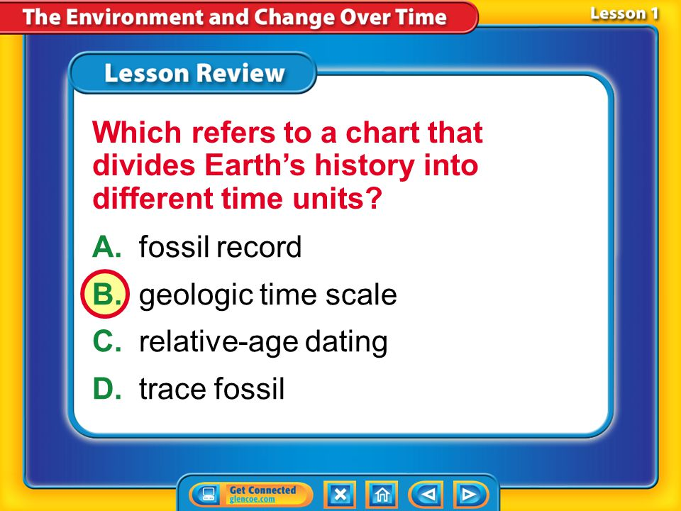 Which refers to a chart that divides Earth's history into different time units